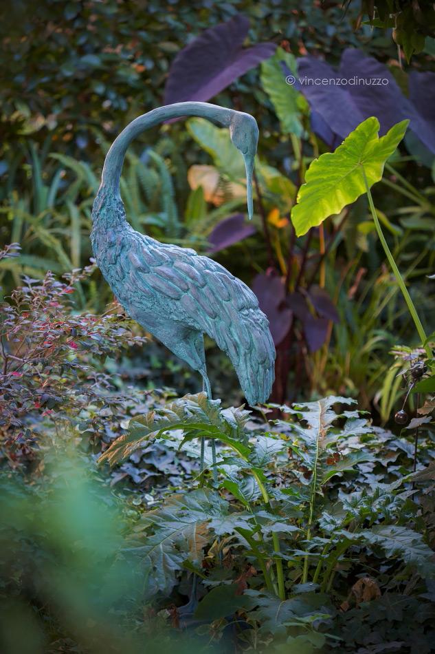 Una gru per il giardino